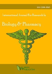 International Journal For Research In Biology & Pharmacy (ISSN: 2208-2093)